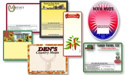 Pre-printed custom food labels