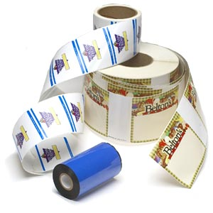 Thermal Transfer Ribbons print on pre-printed logo labels